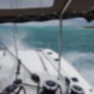 "Fontaine Pajot Saba 50 Catamaran ""Lady Roslyn"". Life on board Bora picture."