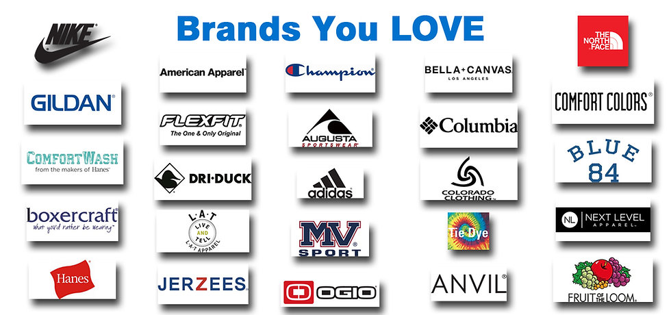 Apparel Brands Gildan Nike Adidas Hanes Comfort Colors