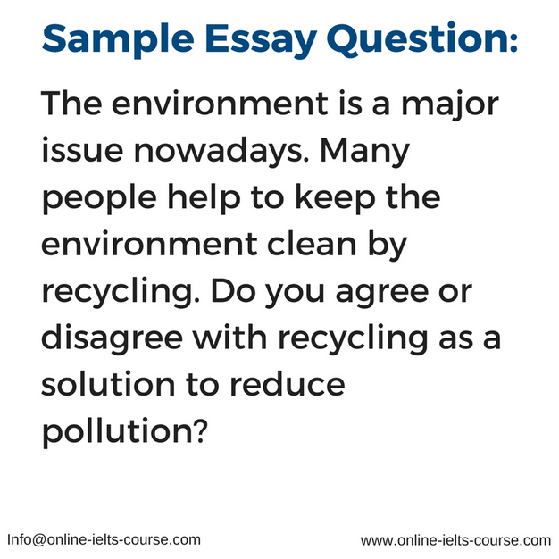 essay questions on environment