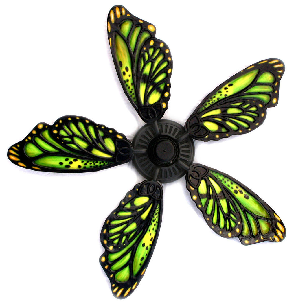 Jeff hoppisexotic ceiling fans funky frog paintings jeff hoppis green butterfly wing 102a audiocablefo