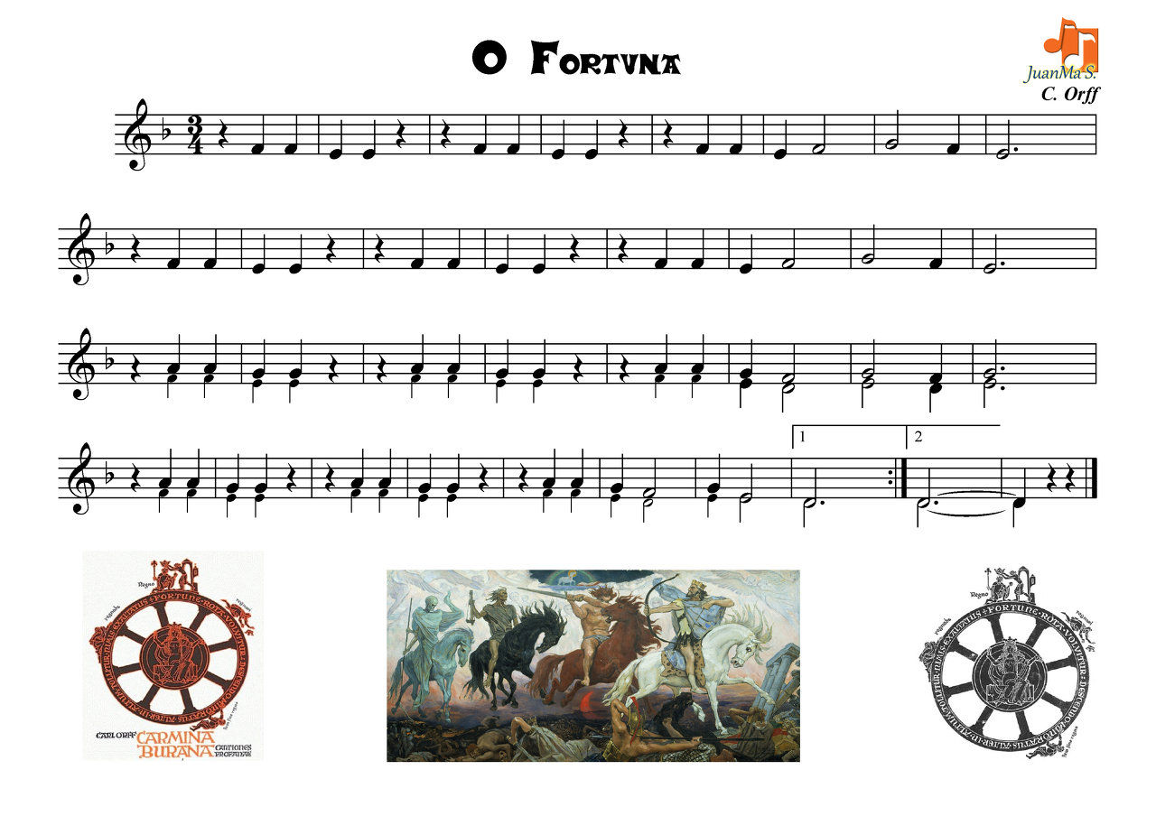 O Fortuna Sheet Music Music Books & Scores At Sheet Music Plus