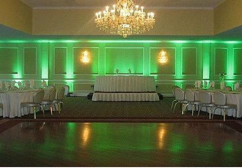 green uplighting head table beautiful color table uplighting