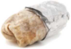 Isolated mexican burrito on a white back