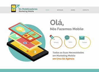Marketing Mobile Template - Este template com cores vivas e design clean é perfeito para sua empresa de TI. Adicione texto para promover seus serviços e valores. Ajuste o design e o layout para criar um site incrível que irá competir no mercado online.