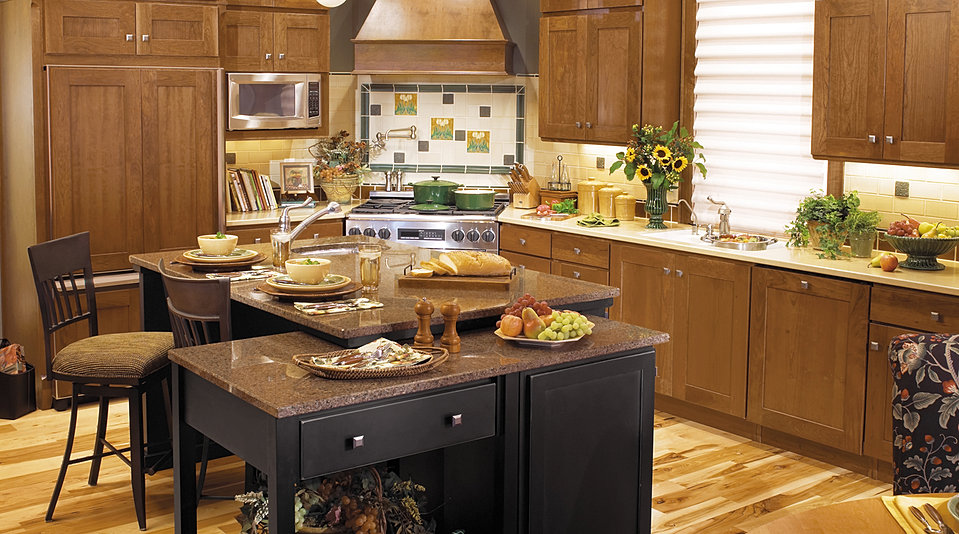 To your kitchen with a multi level island and an angled range