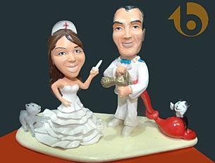 Escultura Casamento topo de bolo