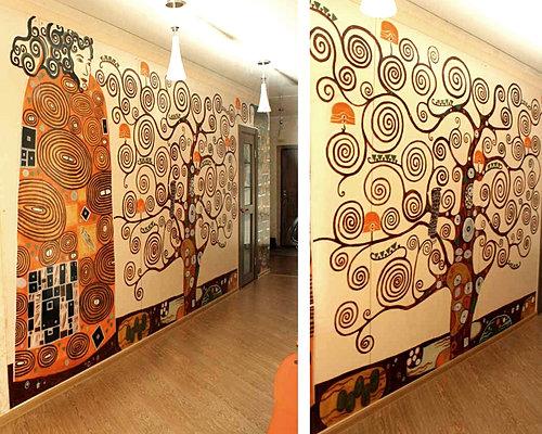 Дизайн роспись на стене