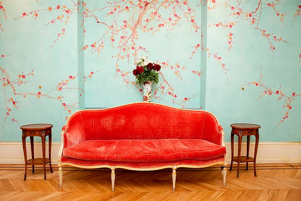 yrmural hand painted wallpaperchinoiserie wallpapersilk wallpaper