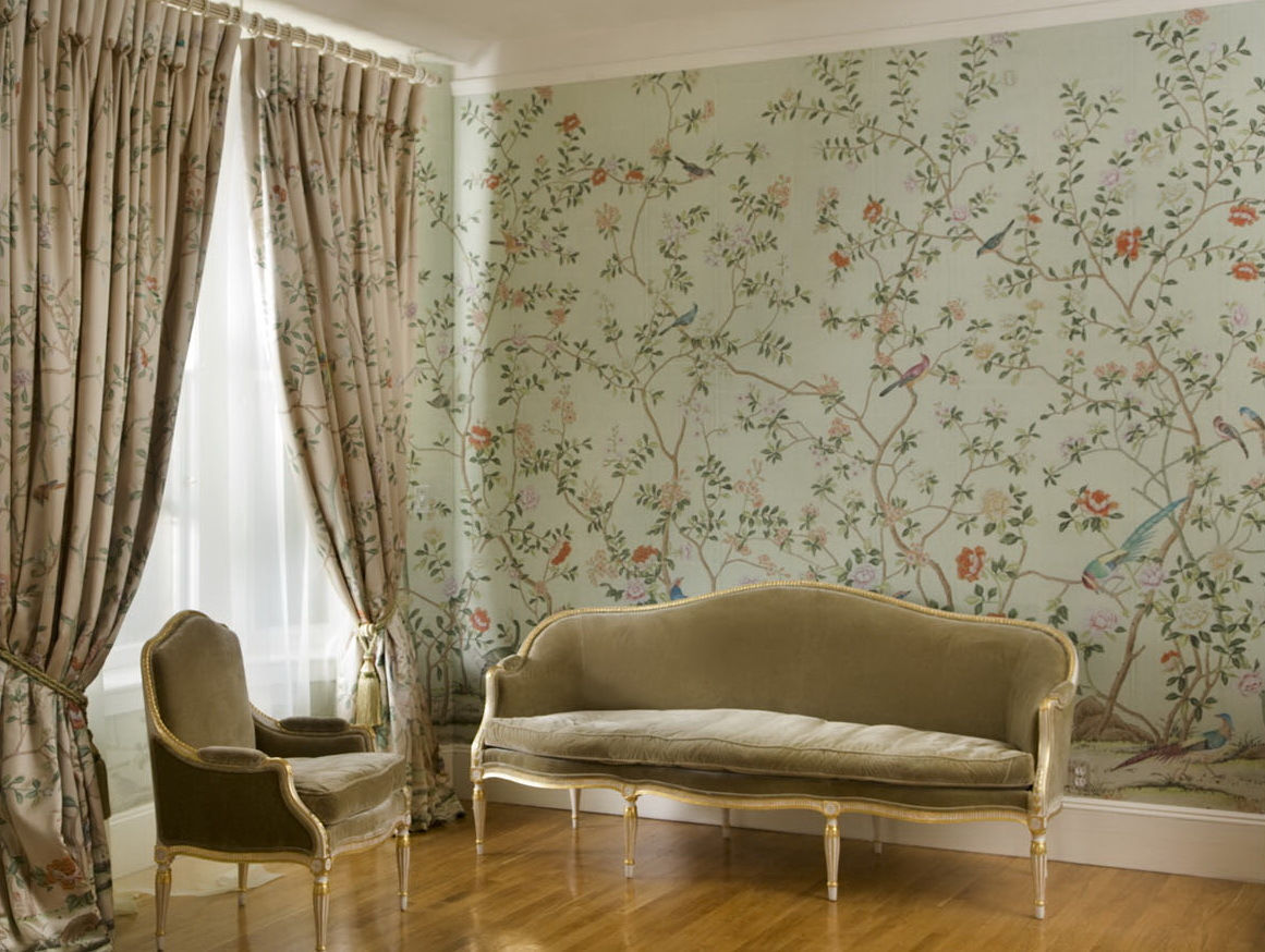 Yrmural hand painted wallpaper hand painted wallpaper for Chinoiserie wall mural