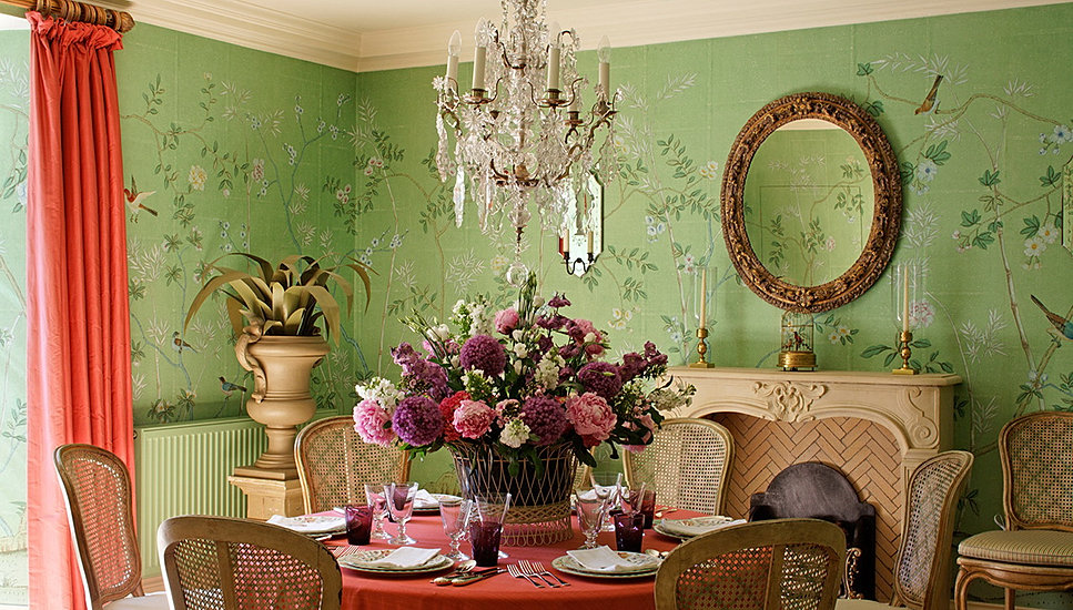 Chinoiserie wallpaper hand painted chinoiserie wallpaper for Chinoiserie mural wallpaper