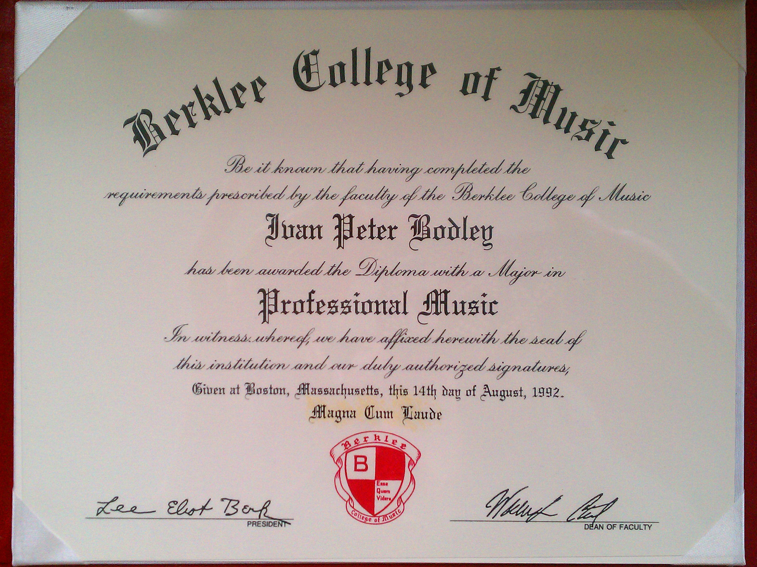 Berklee College of Music Letter to OCR BCM transcripts  page