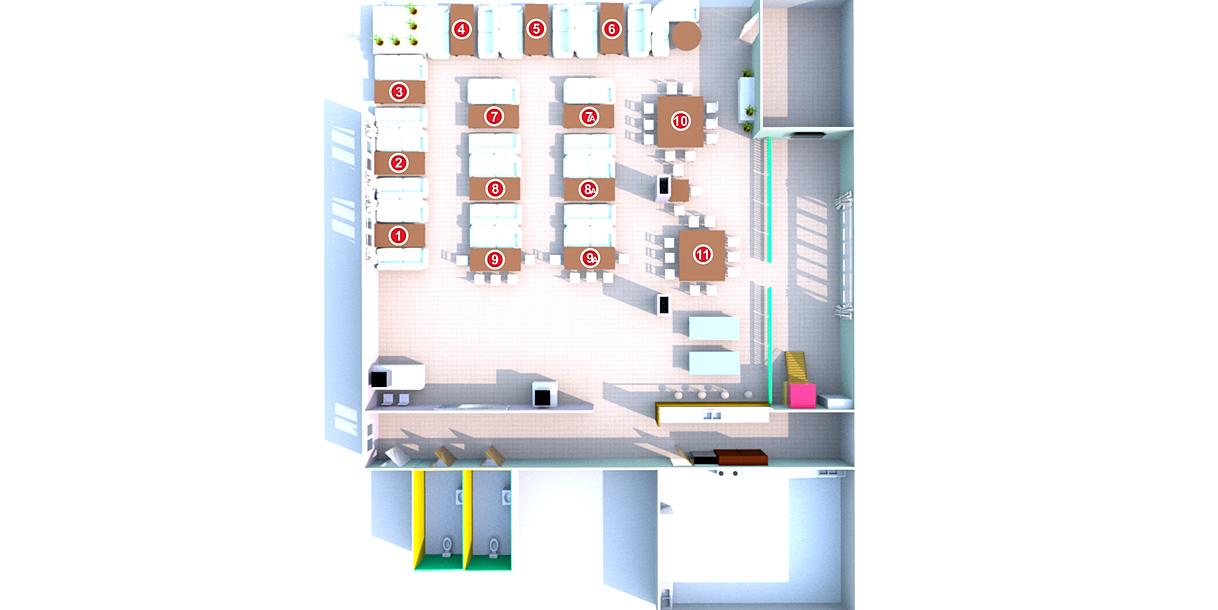 3D-схема зала семейного