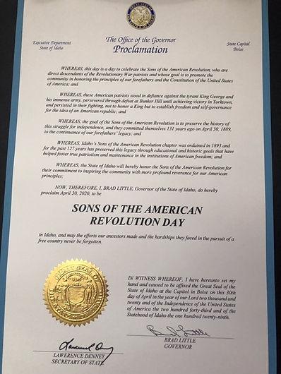 Idaho Proclamation