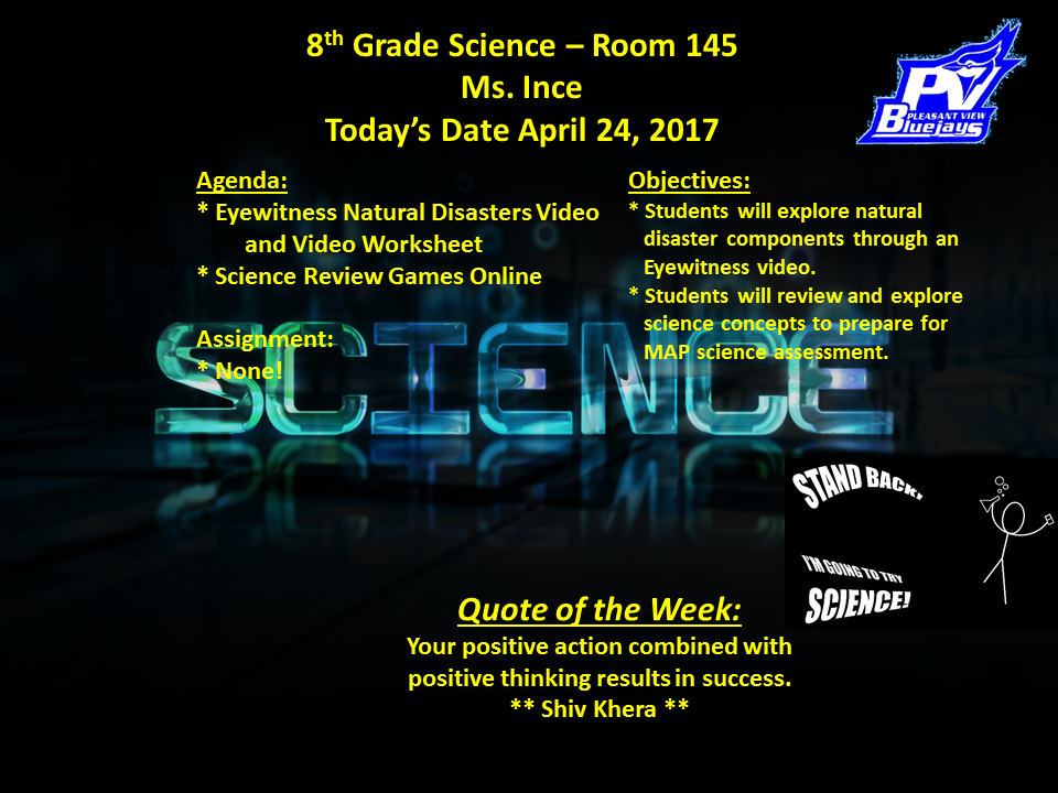 Room 145 Science And Health Emints Classroom Sherry Ince Assignments