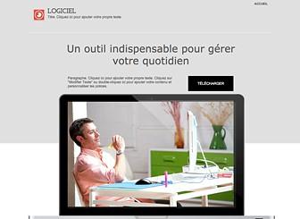 Landing Page Logiciel Template - Faites la promo de votre logiciel grâce à ce template d'une page, attractif et simple à la fois. Téléchargez vos images et modifiez le texte pour mettre en valeur vos articles. Modifiez le design et jouez avec les couleurs pour créer un site Internet unique correspondant parfaitement à vos besoins.