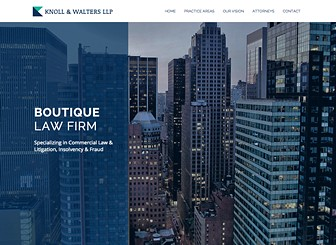 Boutique Law Firm Template - A modern and sophisticated website template, ideal for legal, consulting and other boutique corporate firms. Upload photos to introduce team members and adjust the design and color scheme to match your professional brand. Start editing to make new connections today!