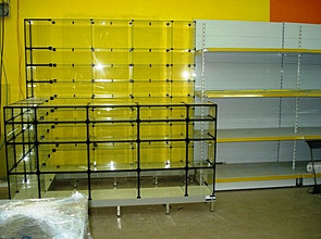 balcões de vidros