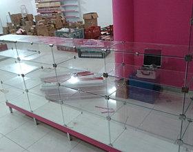 balcões de vidros modulados