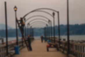 White Rock Pier - Installation
