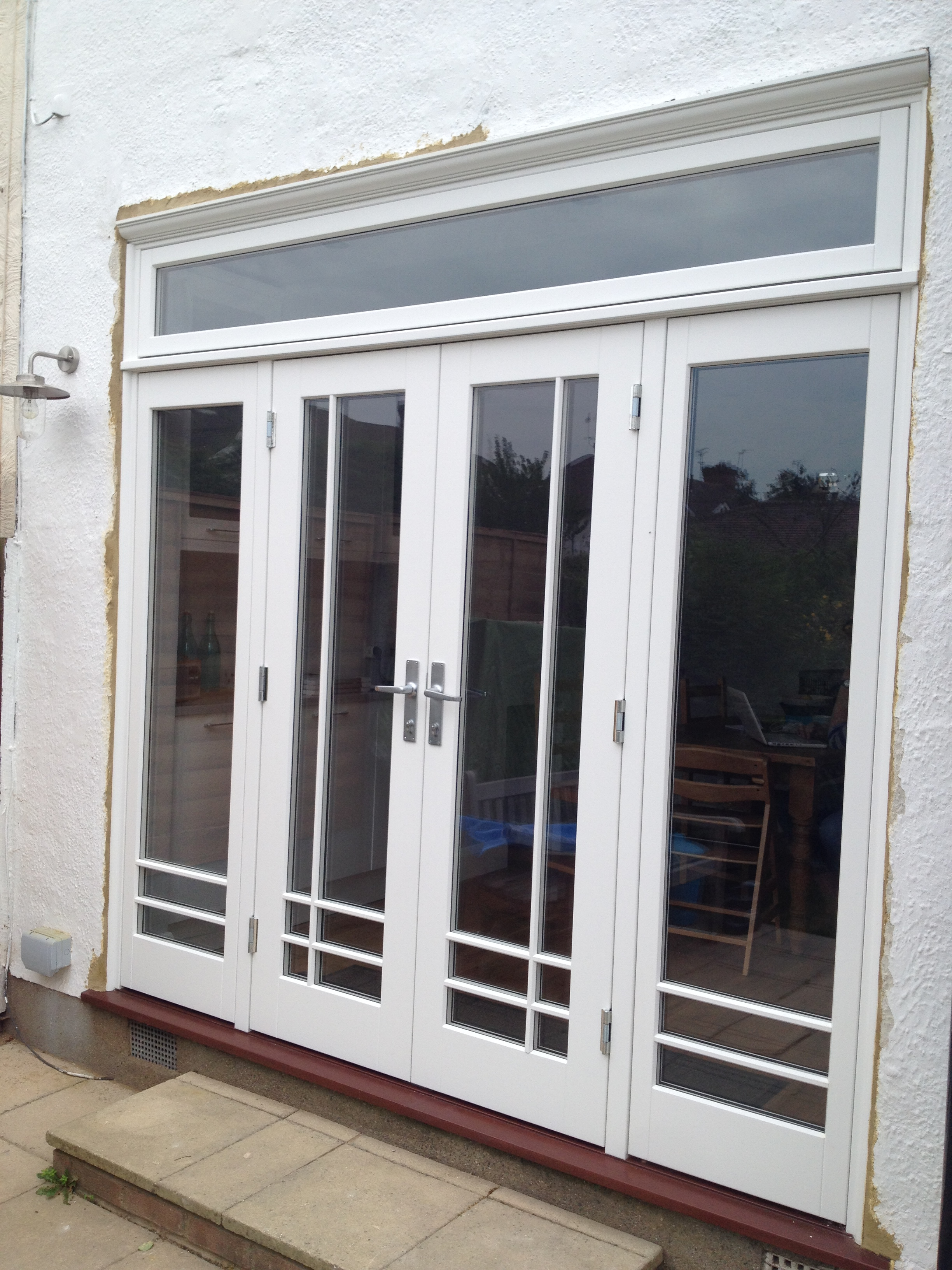 A new art deco style wooden french doorset window in east a new art deco style wooden french doorset window in east london timber windows doors london replacement timber window frames online sciox Images