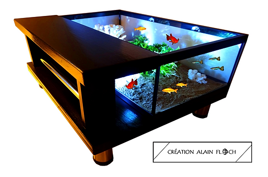 Mobilier unique meubles design exp dition en france et for Table salon aquarium