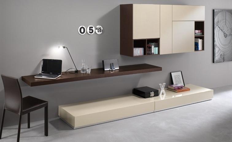 Pareti attrezzate classiche con scrivania trasformabili salvaspazio e doppia funzione cose di casa - Scrivanie da soggiorno ...