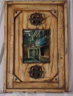 rustic art wood frame
