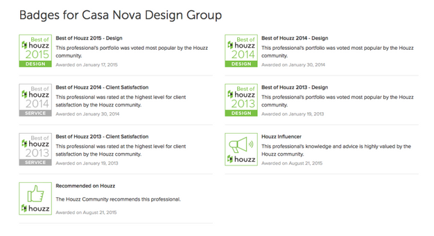 Voted Best Of By Houzz In 2015 2014 And 2013