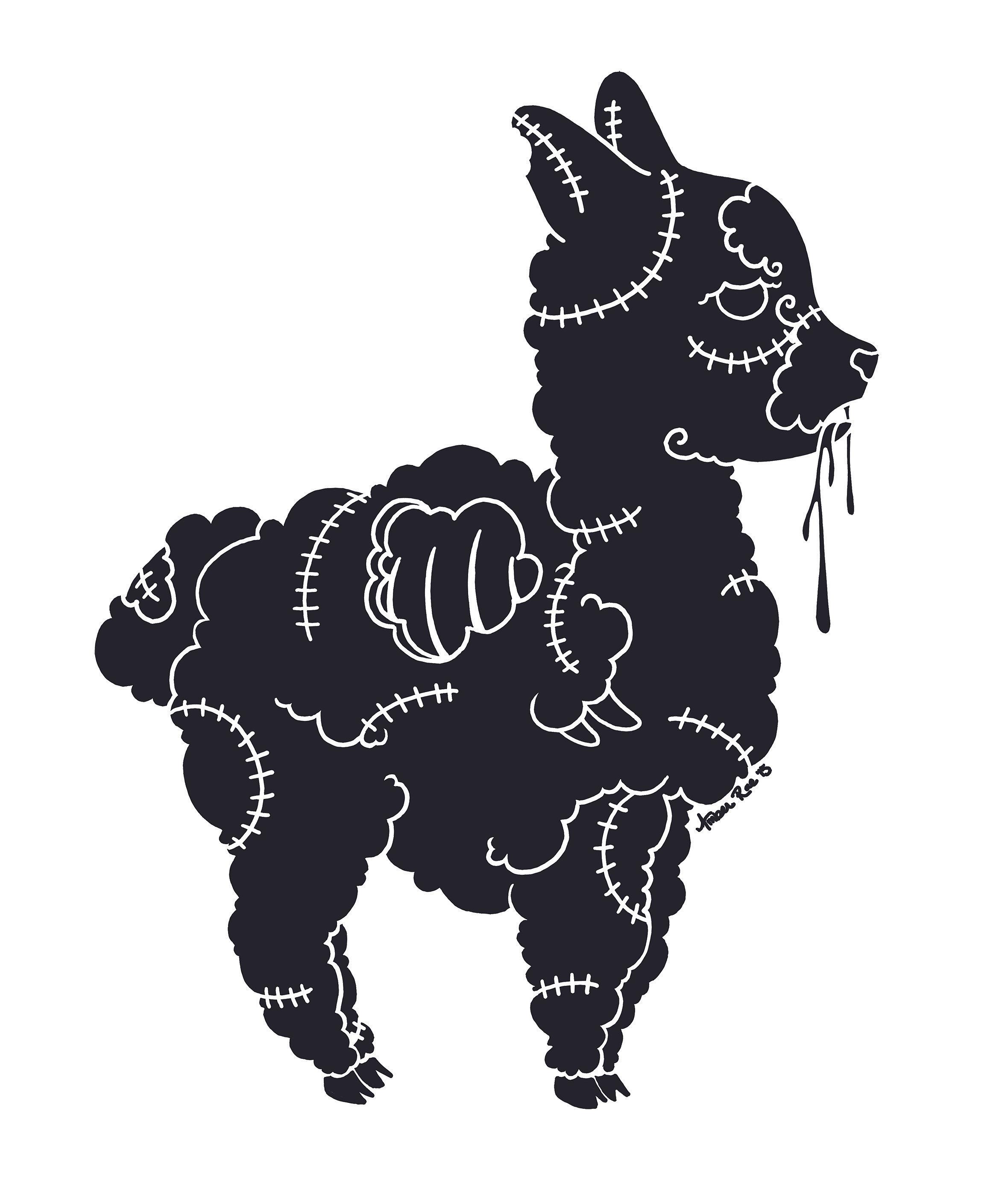 Design t shirt using photoshop - Zombie Alpaca Design Created Using Photoshop That Was Hand Printed Into A T Shirt At Aardvark Tees
