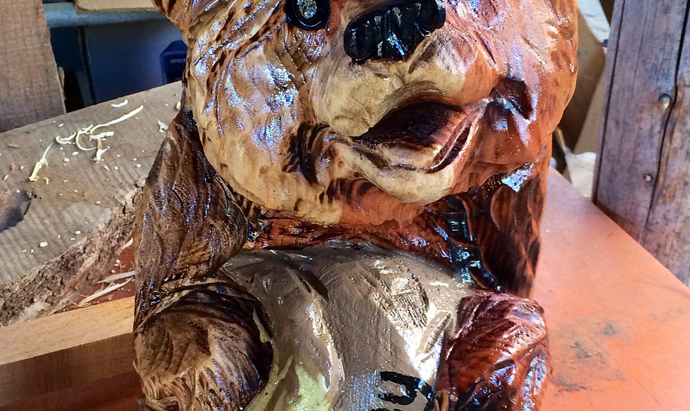 Jamiedoeren chainsaw carver wood carvings lisa s