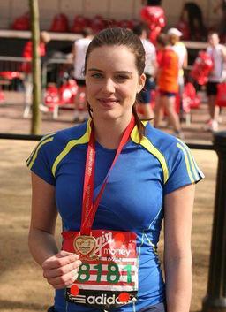 Michelle ran the London Marathon to raise money for CLIC Sargent.
