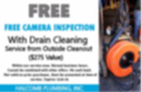 Sewer camera free service coupon 12-2019