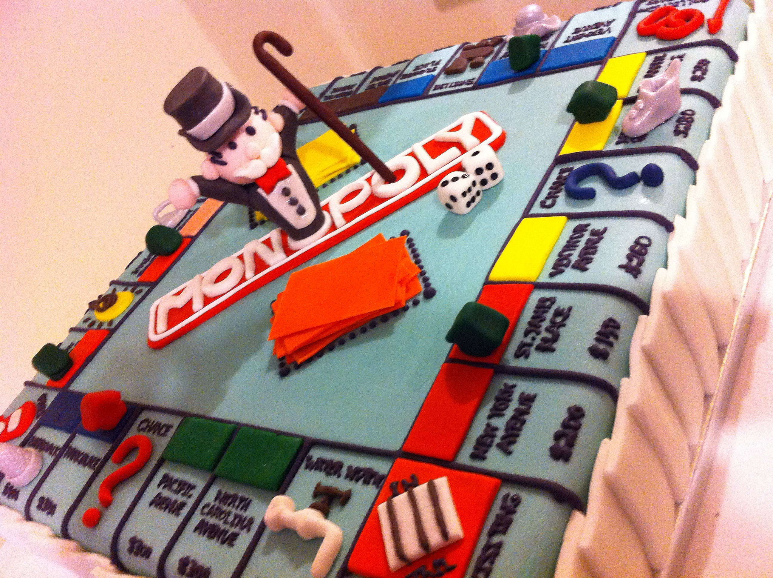 Monopoly Cake Decorations