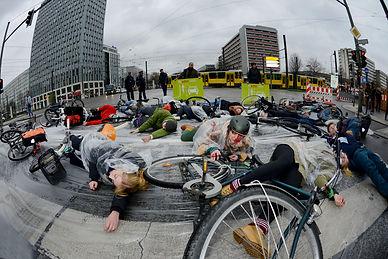 Radfahrer Flashmob