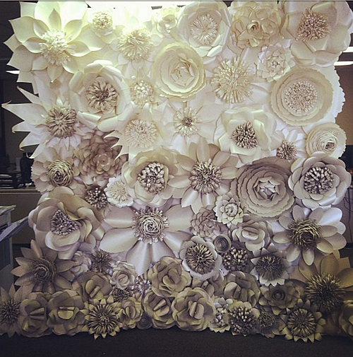 Emejing Paper Flower Wall Wedding Pictures - Styles & Ideas 2018 ...