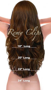 Remy Hair Extensions Length Chart 95