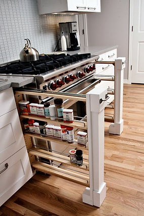 One of the things that sets our kitchens apart, is our accessories. We've got options for your cabinets you've never even thought possible.