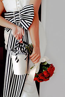 Striped Bow And Purse