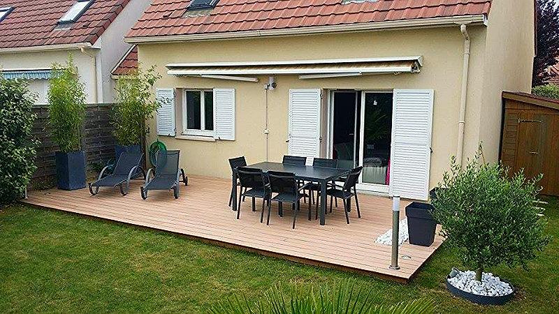 Jarditour paysagiste essonne limours terrasse composite jarditour - Terrasse galets blancs ...