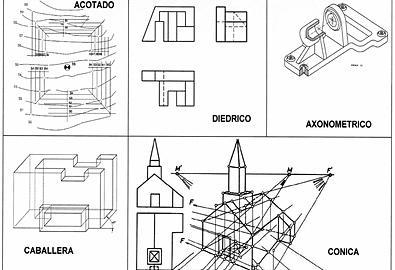 dibujos de geometria descriptiva: