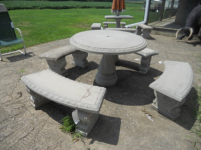 Home page cement table set for Table 0 5 ans portneuf