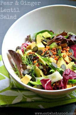 Eat What's Good Pear & Ginger Lentil Salad