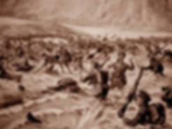 1st Lancashire Fusiliers landing on W Beach Cape Helles Gallipolli on 25 April 1915 winning 'six Victoria Crosses before breakfast'