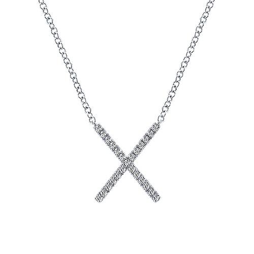 Diamond necklaces and pendants abbys gold gems uniontown pa 14k yellow gold x diamond pendant mozeypictures Images