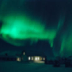 Northernlights, the aurora hovering over our guesthouse, B&B