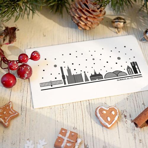 123 julekort med sne
