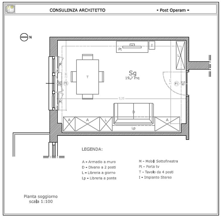 Consulenza architetto progettare stanza progetto for Consulenza architetto