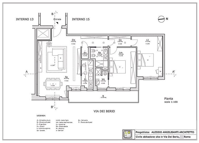 Consulenza architetto progetto appartamento progetti - Progetto casa 85 mq ...