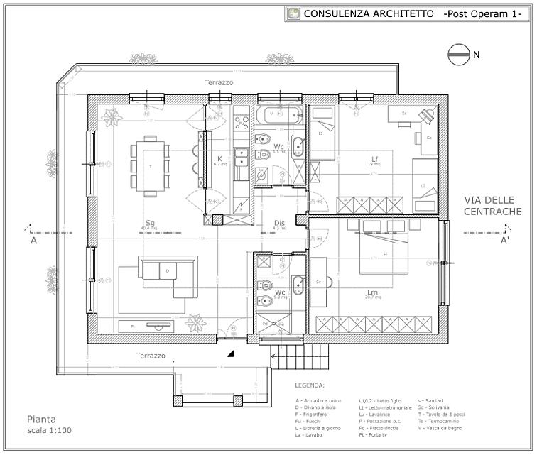 Architetto on line progetto appartamento silver - Progetto casa roma ...