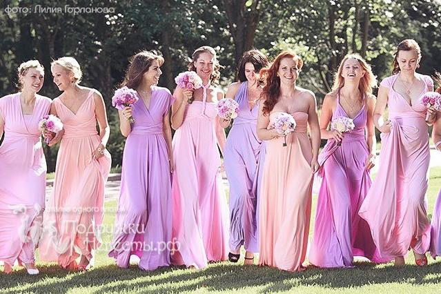Платье подружки невесты: не затмевать